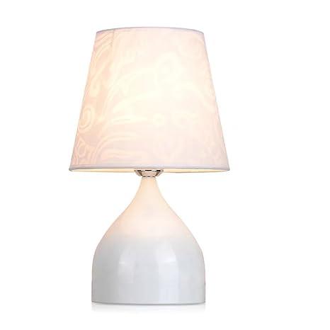 2018 new white table lamp bedroom bedside lamp modern minimalist