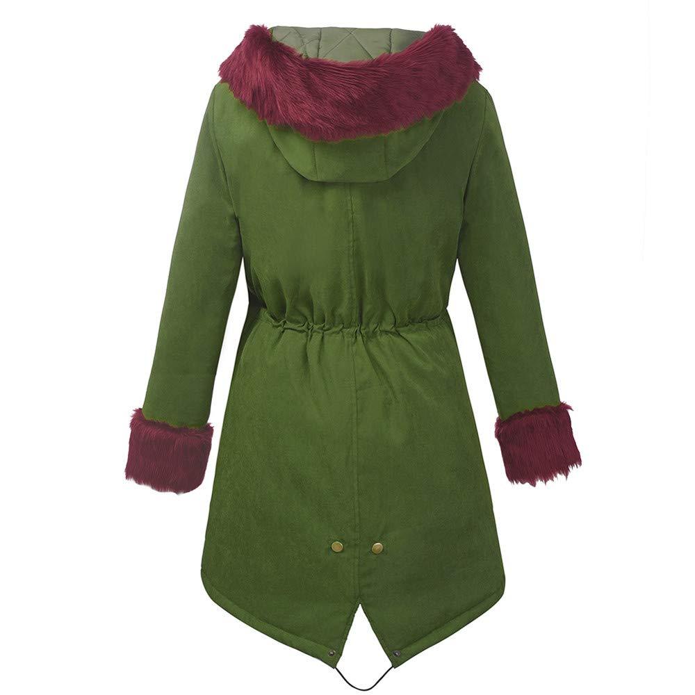 Limsea 2018 Womens Winter Faux Fur Hooded Jacket Parka Fishtail Overcoat