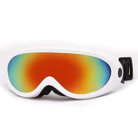 WDAKOWA Adulto Uomini E Donne Bambini Sci Occhiali Da Sole Windbreak Outdoor Alpinismo Occhiali,Purple-1