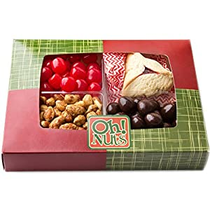 Mishloach Manot, Purim Gift Basket, Purim Gifts, 4 Sectional Shlach Manos or Purim Treat, - Oh! Nuts