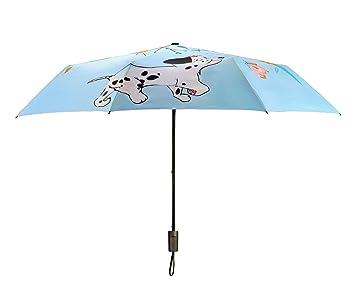 XINLE Paraguas plegable paraguas personalizados, diseño creativo, cachorro, sol proyeccion.
