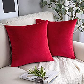 Amazon.com: 4-Pack Cotton Solid Decorative Throw Pillow Case ...