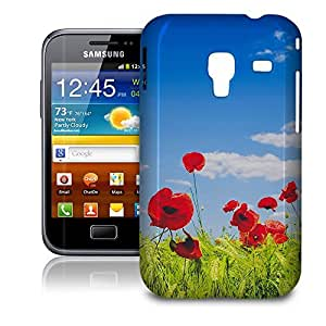 Phone Case For Samsung Galaxy Ace Plus S7500 - Red Poppies Field Protective Premium