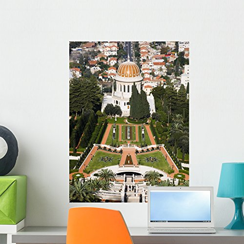 Wallmonkeys The Bahai Shrine Wall Decal Peel and Stick Graphic WM88945 (24 in H x 18 in W)