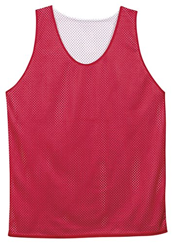 - Badger Sport Youth Pro Mesh Reversible Tank Top - 2529 - Red / White - Large