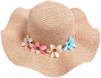 ec20428f868 Qinlee Baby Girl s Pretty Floral Spring and Summer Children Hand Woven  Straw Hat Little Girls Beach Hat Beach Hat sunshade Kids Flowers Sun Cap  Straw Hat
