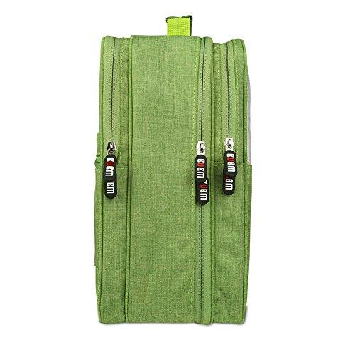 BUBM Schuh Travel Organizer / Schuh Cube-Portable Wasserdichte Schuhtaschen für Outdoor, Workout, Tanzen, Gym - (Groß, Grün)