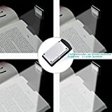 Book Lights, Clip Lights, LENDOO USB Rechargeable Reading Light for Kindle Book Lovers with 4-Grade Adjustable Brightness also as a useful BOOKMARK