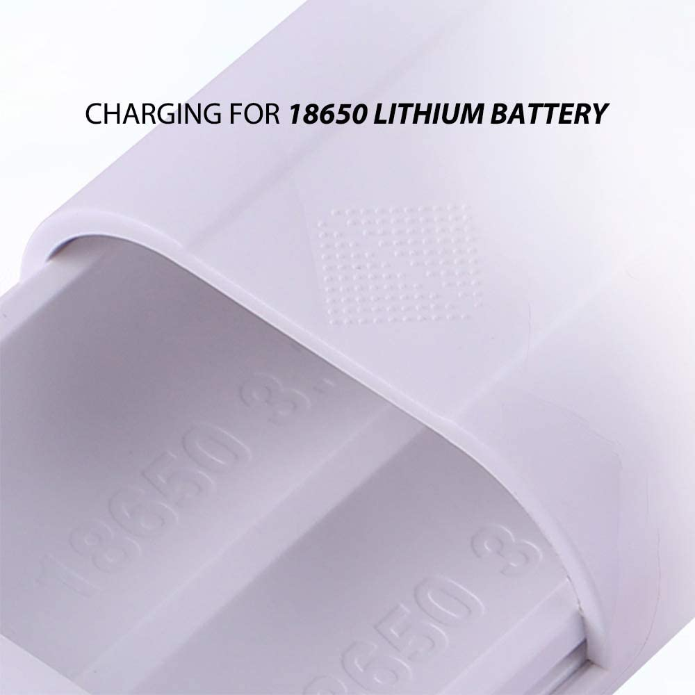 Festnight TOMO P4 18650 Li-ion Battery Charger Micro USB Input Dual Output Smart Power Bank Portable Charger for Cellphones