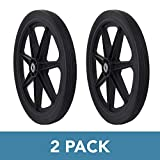 "Marathon Industries 92008 Flat Free 2 Pack Marathon 20"" Spoked Tire Assembly Replacement for Rubbermaid"