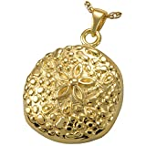 Memorial Gallery MG-3151gp Sand Dollar 14K Gold/Sterling Silver Plating Cremation Pet Jewelry