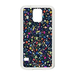Samsung Galaxy S5 Cell Phone Case White Icon Set SUX_866749