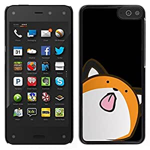 Impact Case Cover with Art Pattern Designs FOR Amazon Fire Phone Cat Animation Drawing Art Licking Tongue Betty shop