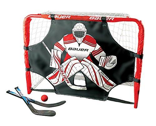 Bauer Deluxe Knee Hockey Goal Set (Steel), Red
