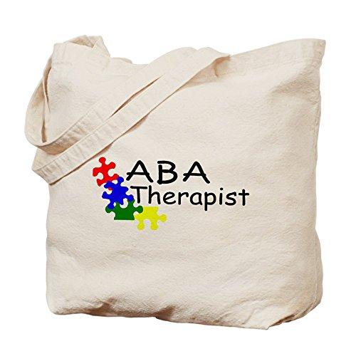 Cafepress–ABA Therapist–Borsa di tela naturale, tessuto in iuta