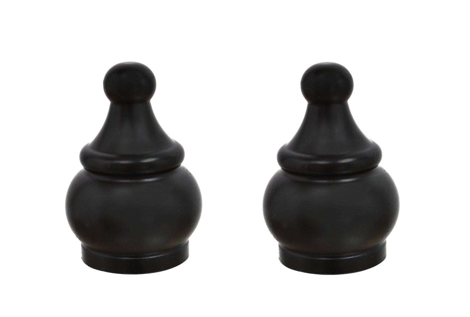 Aspen Creative 24017-32 Steel Lamp Finial Finish, 1 1/2'' Tall (2), 2 PACK, Oil Rubbed Bronze