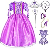 SweetNicole Princess Rapunzel Purple Princess Party Costume Dress with Accessories (7-8)
