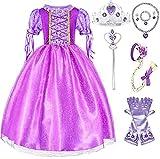 SweetNicole Princess Rapunzel Purple Princess Party Costume Dress with Accessories (4-5)