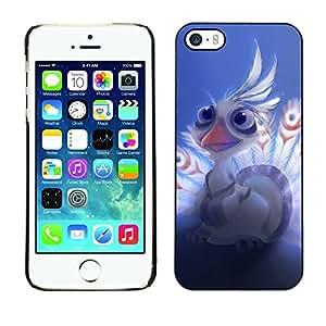 Be Good Phone Accessory // Dura Cáscara cubierta Protectora Caso Carcasa Funda de Protección para Apple Iphone 5 / 5S // Bird Feathers White Peacock Art Cartoon Character