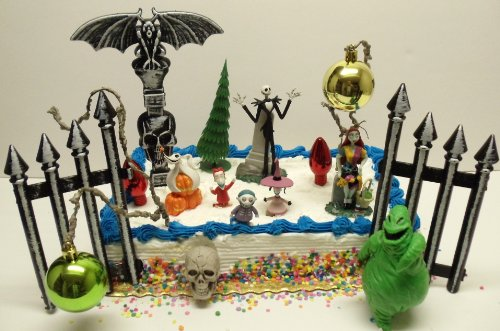 Nightmare Before Christmas 18 Piece Birthday Cake Topper Set ...