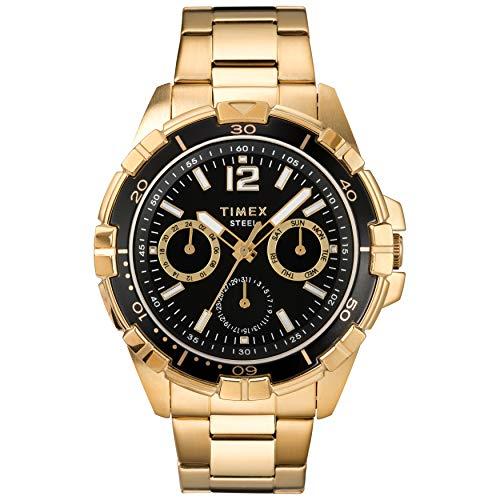 Timex Men's Dress Analog 45mm Stainless Steel Multifunction Bracelet Watch - Mens Multifunction Bracelet Watch