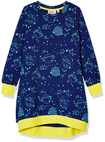 A for Awesome Girls Long Sleeve Jersey Sweater Dress X-Small Space Print
