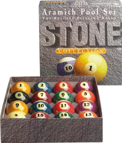 Aramith Stone Collection Pool and Billiard Ball Set (Billiards Pooldawg Balls)