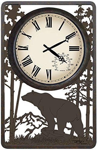 Bear Outdoor Clock by Painted Sky Designs, Inc.
