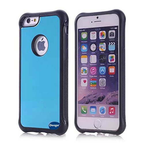 iPhone 6 Case,Nancy's Shop *New* Fashion Scratch Resistant Premium Protection Scratch ,Protection Scratch Proof Soft Interior with Hard Shell Solid Polycarbonate Back Case,Rubber Armor Defender - Slim Case Cover for iPhone 6 (4.7) (2014) Smartphone with small gift for Screen Protector (Blue Best iPhone 6 Case)