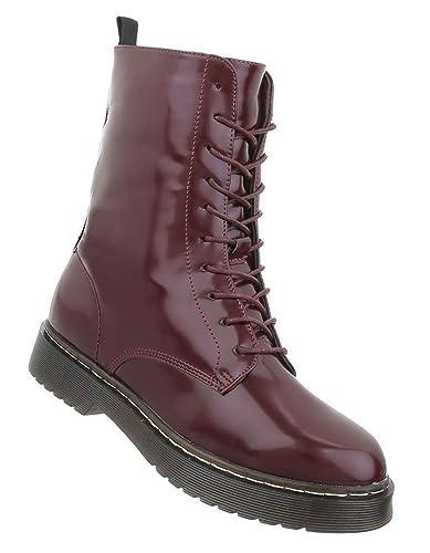 Neu Herren Schuhe Stiefeletten Lackleder Schnürschuhe Boots Freizeit