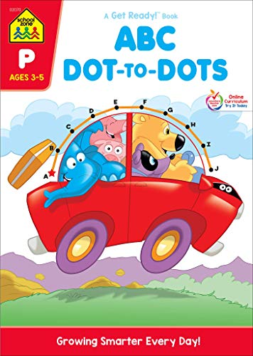 School Zone - ABC Dot-to-Dots Workbook - Ages 3 to 5, Preschool to Kindergarten, Connect the Dots, Alphabet, Alphabetical Order, Letter Puzzles, and More (School Zone Get Ready!TM Activity Book Series)