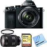 Sony a7K Full-Frame Mirrorless Digital Camera w FE 28-70mm F3.5-5.6 Lens + FE 24-240mm F3.5-6.3 OSS Full-frame E-mount Telephoto Zoom Lens + 64GB SDXC Memory Card + UV Filter & Microfiber Cloth