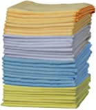 OxGord Microfiber Cleaning Cloth - 32pc Pack Bulk - Duster Rag Sponge for Car Wash Auto Care Thick Large for Glasses Kitchen Dish