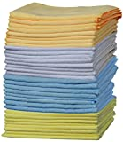 "OxGord Microfiber Cleaning Cloth "" 32pc Pack Bulk - Duster Rag Sponge for Car Wash Auto Care Thick Large for Glasses Kitchen Dish"