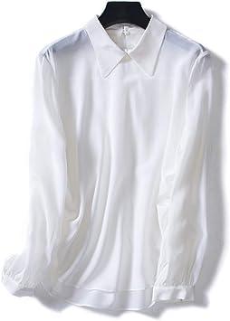 XCXDX Camisa De Seda De Manga Larga En Color Liso, Elegante Mono, Abrigo De Mujer: Amazon.es: Deportes y aire libre