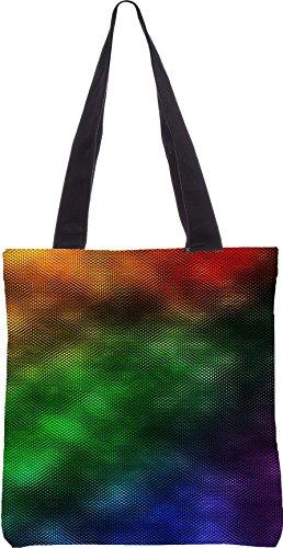 Snoogg rainbow regen 2440 13,5 x 15 Zoll-Shopping-Dienstprogramm-Einkaufstasche aus Polyester-Segeltuch gemacht