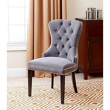 Prime Amazon Com Abbyson Living Miiko Dining Chair In Gray Ibusinesslaw Wood Chair Design Ideas Ibusinesslaworg