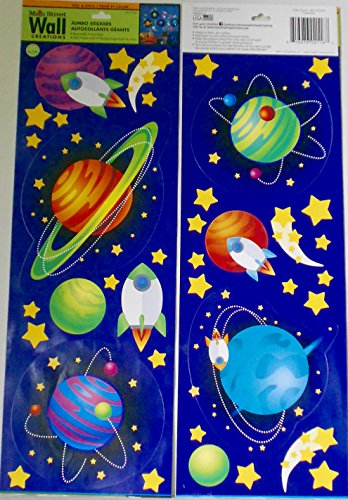 Main Street Wall Creations Outer Space Jumbo Removable Stickers/Decals