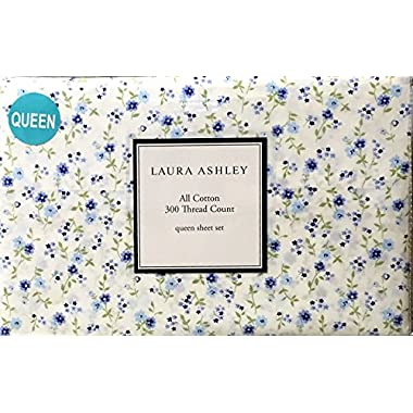 Laura Ashley Adelle Queen Sheet Set, Blue