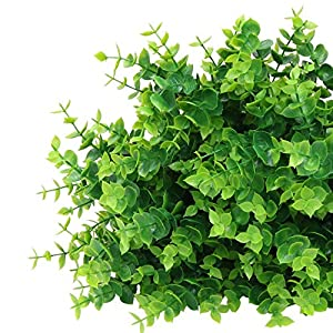 ElaDeco Artificial Boxwood (Pack of 7),Artificial Farmhouse Greenery Boxwood Stems Fake Plants and Greenery Springs for Farmhouse,Home,Garden,Office,Patio,Wedding and Indoor Outdoor Decoration 3