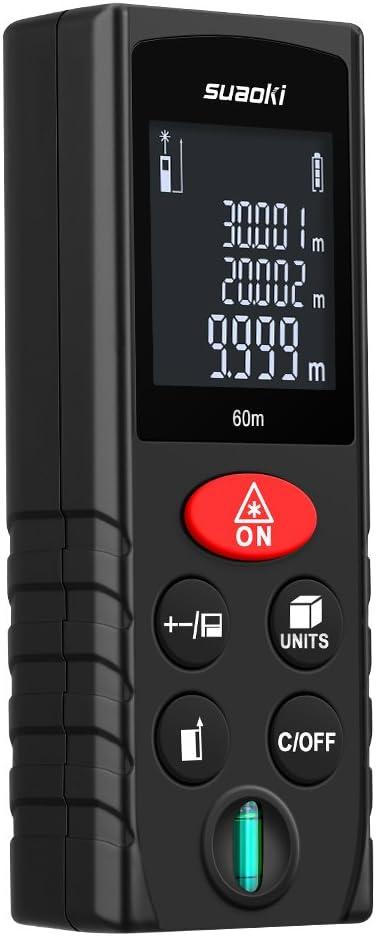 Suaoki D60 0.05m-60m Digital Laser Distanzmesser Messgerät Entfernungsmesser LCD