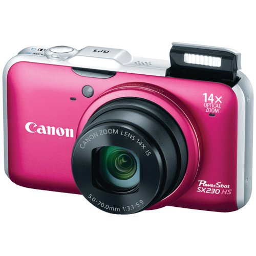Cheap Canon PowerShot SX230HS 12.1 MP Digital Camera with HS SYSTEM and DIGIC 4 Image Processor (red)