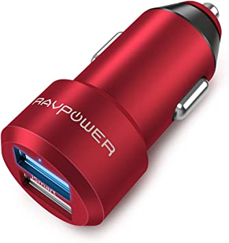 iPad Pro Air Mini and Galaxy S9 S8 Plus and More Compatible with iPhone 11//Pro//Max XS Max XR X 8 7 Plus Car Charger RAVPower Mini Dual USB Car Adapter 24W 4.8A Output