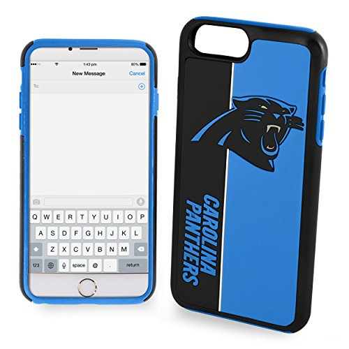 Forever Collectibles iPhone 8/7 Dual Hybrid Bold Case - NFL Carolina ()