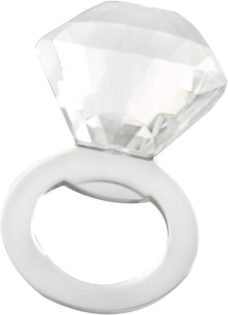 Kate Aspen Shine Sparkle /& Pop Silver Diamond Bottle Opener