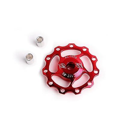 Eleganantamazing 11T Rodamiento Sellado para Rueda de Jockey guía polea Rodillo Carretera MTB Bicicleta Bicicleta Trasera