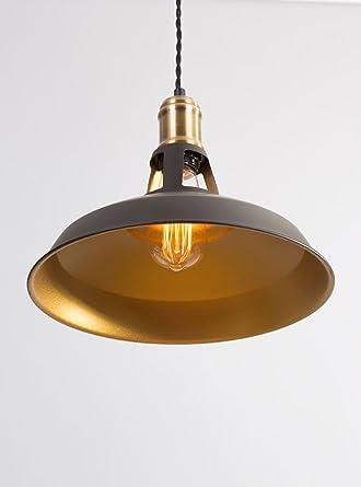 Diseño retro de industrial negro/dorado de cocina luces ...