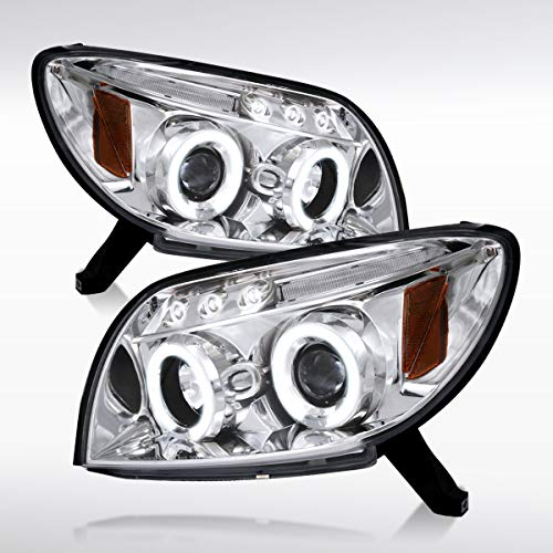 Autozensation For Toyota 4Runner Chrome LED Halo Projector Headlights Pair