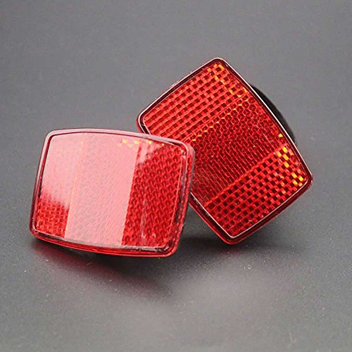 C-Pioneer Bicycle Bike Safety Caution Warning Reflector Disc For Rear Pannier Racks Frame
