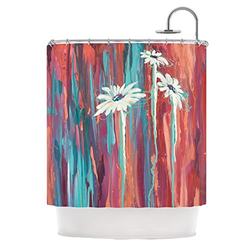 "Kess InHouse Brienne Jepkema ""Whole"" Teal Orange Shower Curtain, 69 by 70-Inch from Kess InHouse"